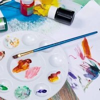 3 type 61011 grid paint palette tray round plastic mixing craft palette art watercolor diy supplies kids r0g7