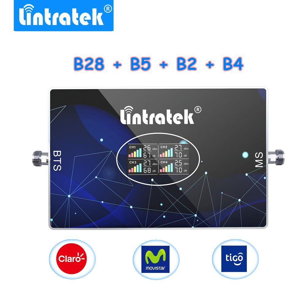 Lintratek-amplificador de señal 4g 3g gsm B28 700 850 1900 1700mhz móvil...