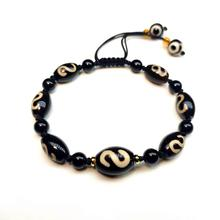 Hand-woven Ladies Amulet Bracelet Agate DZI Beads Money hook Totem pattern Adjustable bracelet Free Shipping