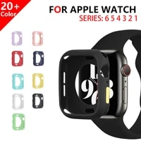 macaron soft silicone case for apple watch 6 se 5 4 3 2 1 42mm 38mm cover protection shell for iwatch 4 5 6 3 40mm 44mm bumper