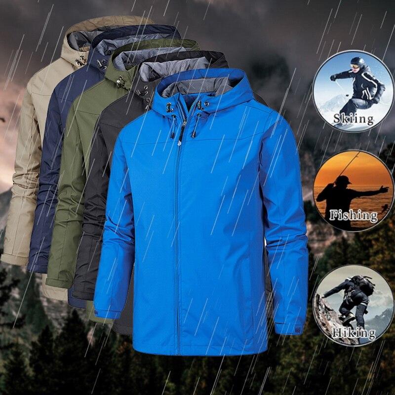 Men's Hiking Hooded Jackets Outdoor Sports Thin Hoodies Windbreaker Camping Climbing Trekking Fishin