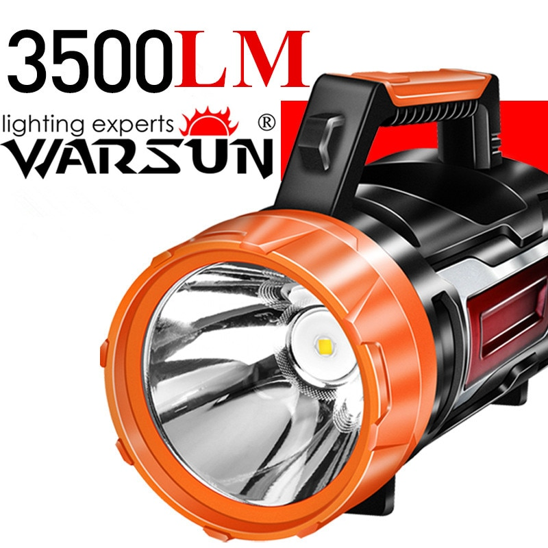 Warsun H886 Multifunctional Searchlight Hand Crank Charging COB LED Rechargeable Power Bank Flashlight Powerful Camping Light enlarge