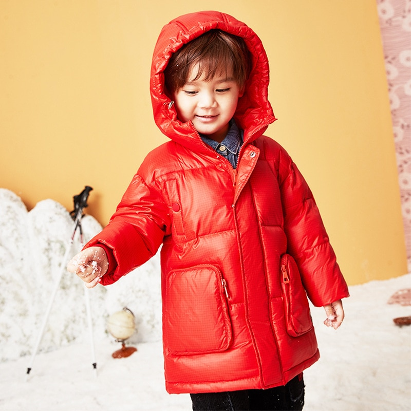 Children's Down Jacket Boys and Girls Clothing 2021 Winter New Thick White Duck Down Hooded Jacket enlarge