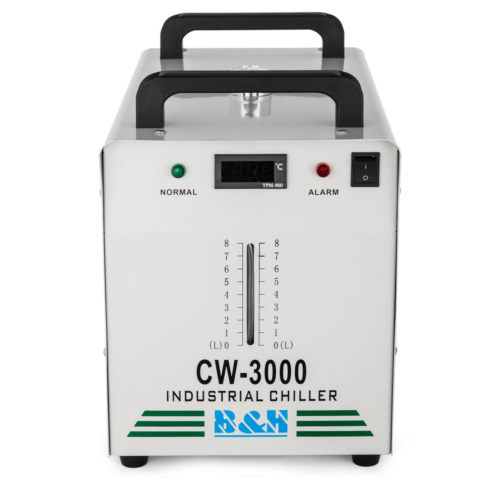 Con enfriador de agua Industrial CW 3000 100W CO2 máquina cortadora de grabado láser 900x600mm Puerto USB