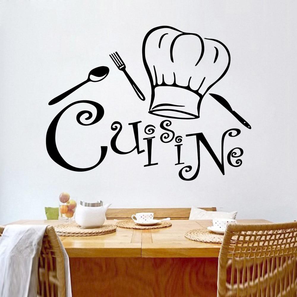 Diy Cook Kitchen Vinyl Stickers Cuisine House Decoration Wall Art Decal Wallpaper Decals