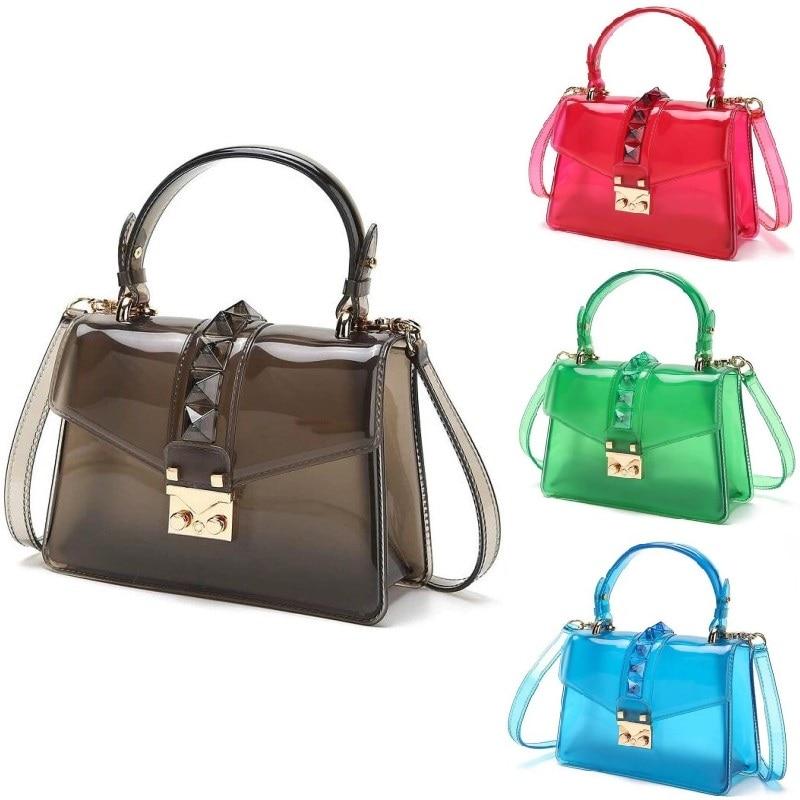 Jelly bag Casual Crossbody Bags For Women 2021 Luxury Handbag Brand Bolsa Feminina Transparent Shoulder Bags Ladies sac a main