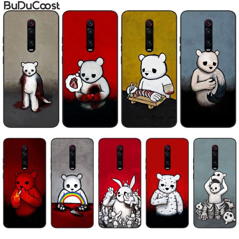 Чехол для телефона Horror Luke Chueh Bear, чехол для Redmi note8 pro note9 pro для Redmi Note4X 5 5A 7 7A Note6 6 Pro