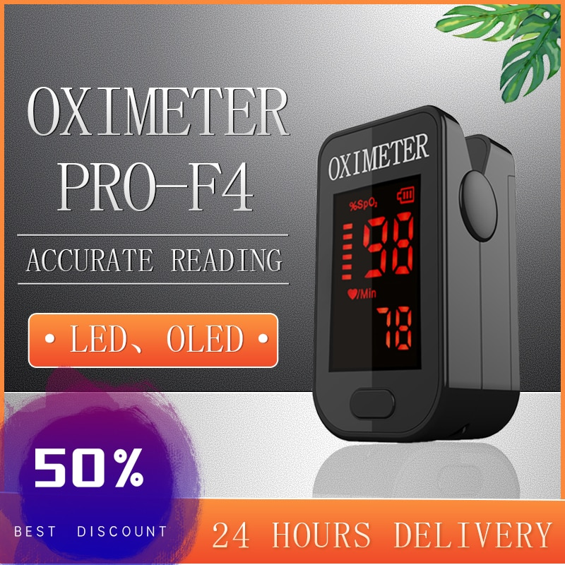 Household Health Monitors Oximeter CE Fingertip Pulsoximeter SPO2 LED Fingertip Pulse Oximeters Finger Blood Oxygen