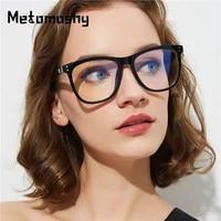 new flat mirror cat eye glasses frames women brand designer eyeglasses frame black leopard vintage optical computer glasses