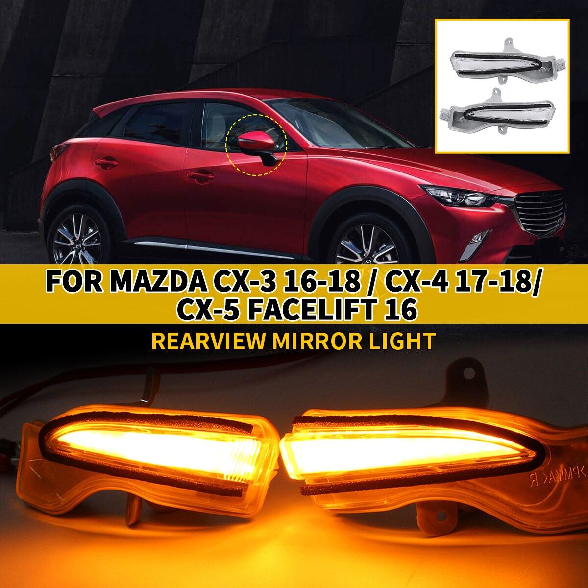 Señal de giro dinámica LED para Mazda Cx3 Cx5 CX-3, CX-4 Cx-5 2016 2017 2018, indicador de espejo retrovisor lateral, luz de repetición intermitente