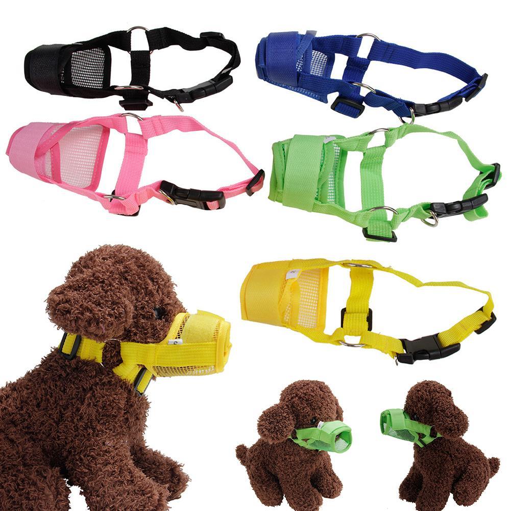 1PC Pet Adjustable Dog Muzzle Mesh Breathable Dog Mouth Muzzle Anti Bark Bite Chew Dog Muzzles Training Products Pet Accessories