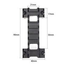 Chasse MP5 G3 modèle 3 bidirectionnel pince montage profil bas 21mm Picatinny Weaver Rail adaptateur portée Rail Base