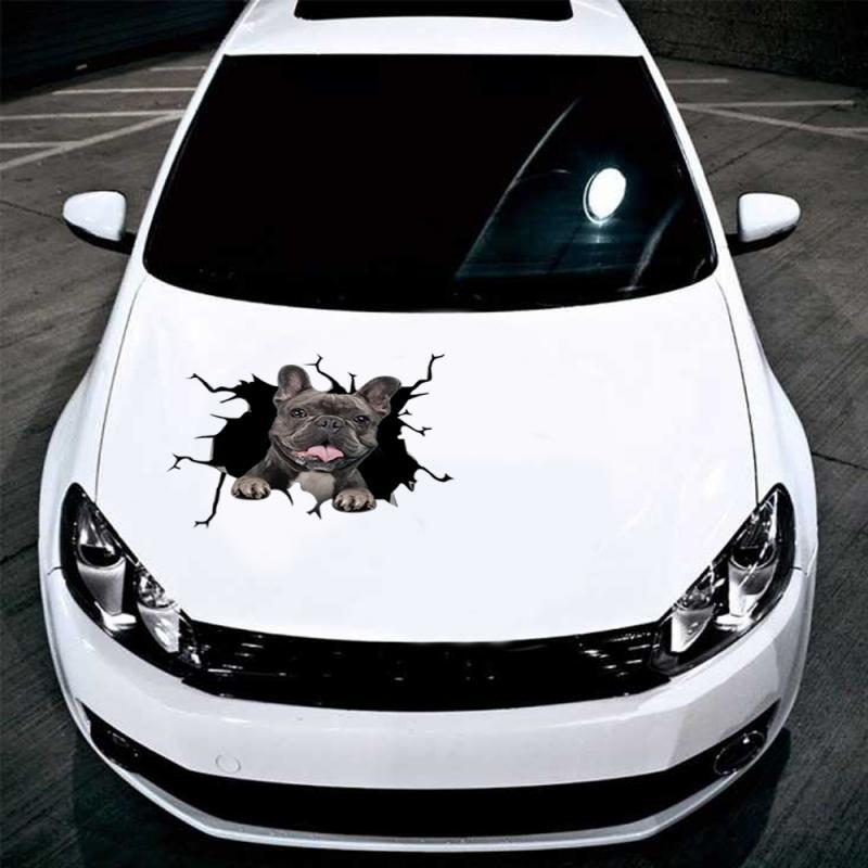 Pegatina de grietas de perro para coche, pegatina de decoración de ventanas...