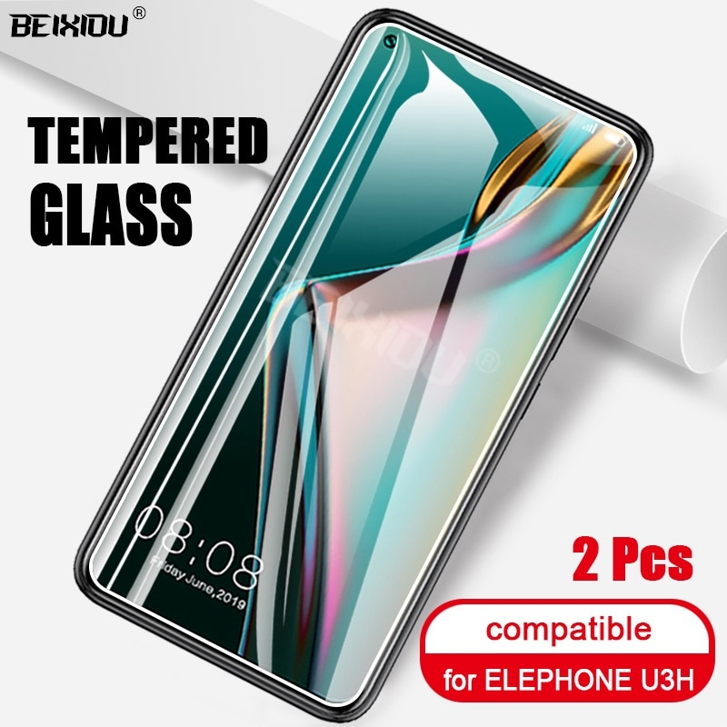 2 PCS Full Tempered Glass For ELEPHONE U3H Screen Protector 2.5D 9h tempered glass For ELEPHONE U3H Protective Film
