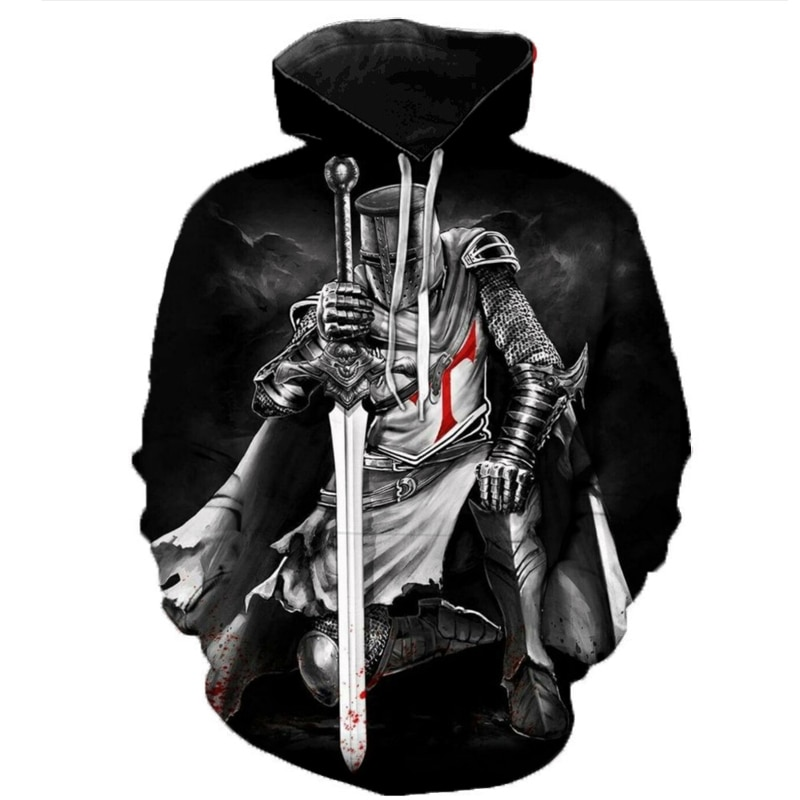 2020 New Fashion Hoodies Knights Templar 3d Printed Hoodie Sweatshirt Men/women Casual Streetwear Sudadera Hombre Drop Shipping fashion marvel men hoodies the avengers i am groot 3d printed cute hoodie zip hoodies unisex casual streetwear sudadera hombre