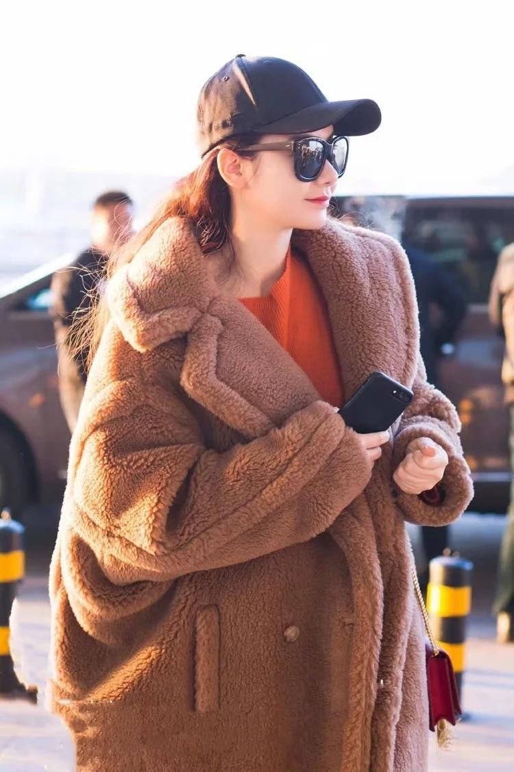 Winter Women High Quality Faux Rabbit Fur Coat Luxury Long Fur Coat Loose Lapel OverCoat Thick Warm Plus Size Female Plush Coats enlarge