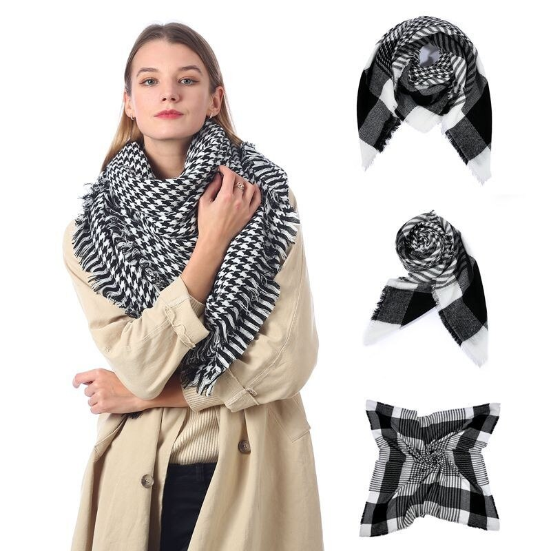 Bla thousand bird Che Scarf women's imitation cashmere Che Scarf warm shawl