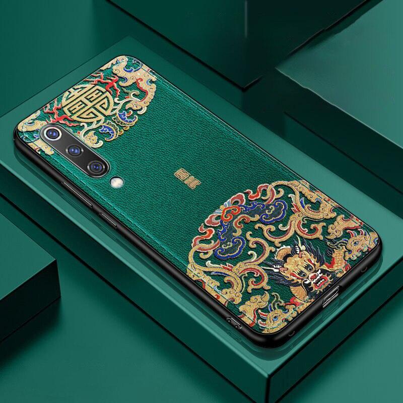En relieve funda de teléfono de cuero de poliuretano para Xiaomi Mi 10 Pro 9 Lite CC9 9T Pro Redmi K20 K30 Nota 7 8 Pro teléfono móvil F2 Pro X2 cubierta Coque