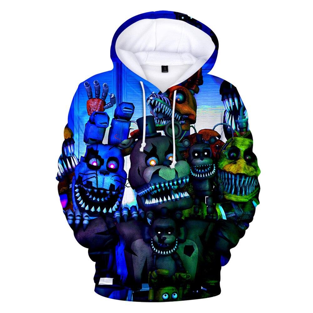 2020 nueva primavera 3D imprimir cinco noches en Freddys sudadera para niños sudadera de la escuela para los muchachos FNAF traje para la chaqueta para adolescentes ropa