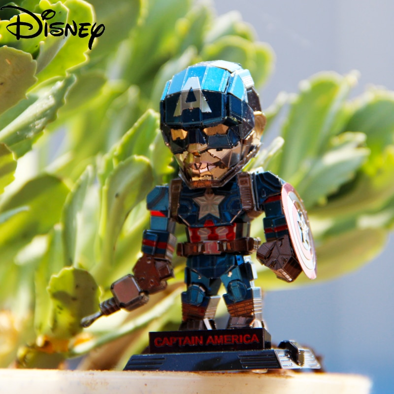 alex irvine phase three marvel s captain america civil war Disney Marvel Captain America Full Metal DIY Assembly Model 3D Three-dimensional Puzzle Q Version Captain America Hand Office