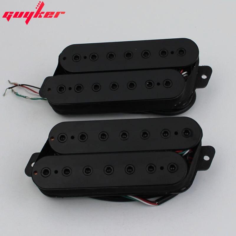 Guyker Headless Fanned Fret Guitar Pickup for 7 String Electric Guitar Black