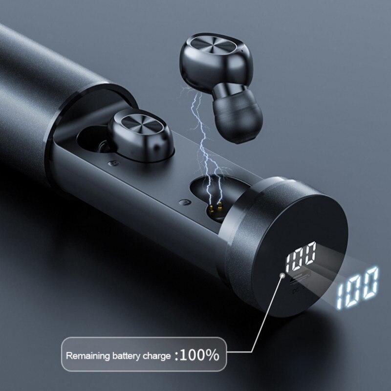 ¡Oferta! Caja de carga de 3500mAh auriculares inalámbricos en el oído dos toques de Control auriculares deportivos ruido cancelar B9 auriculares inalámbricos