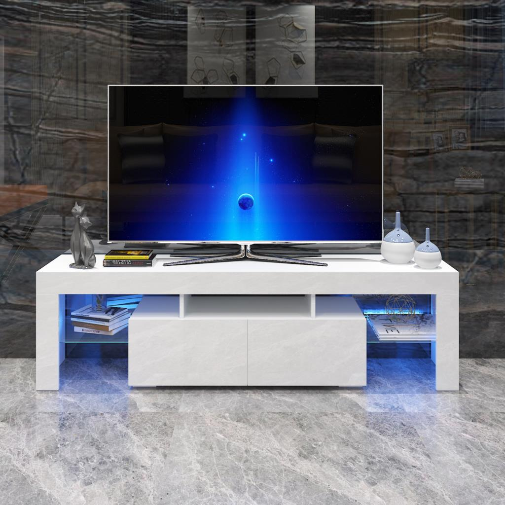 ديكور منزلي LED تلفزيون خزانة مع اثنين من الأدراج ل 70 بوصة حامل تلفاز أثاث غرفة المعيشة وحدة تليفزيون وحدة المفروشات المنزلية