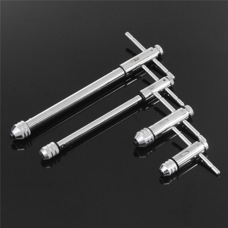 Punho da catraca tap M3-M8 M5-M12 alongar reversível t torneiras chaves fio chave de batida ajustável titular ferramentas