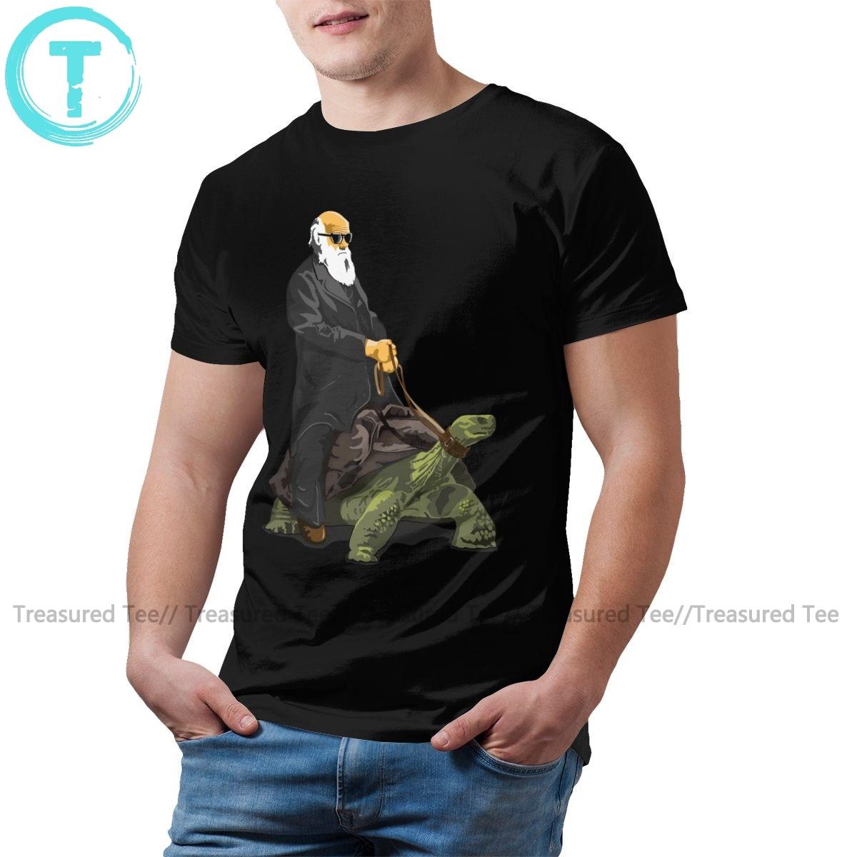 Camiseta de tortuga, camiseta de estilo Galápagos, camiseta grande para hombre, camiseta de manga corta informal divertida, Camiseta de algodón 100 por ciento