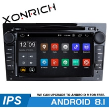 Autoradio multimédia Android 8.1   2 Din, Opel Vauxhall Astra H G J vivaro Vectra C Antara Zafira B Corsa D Meriva Navigation