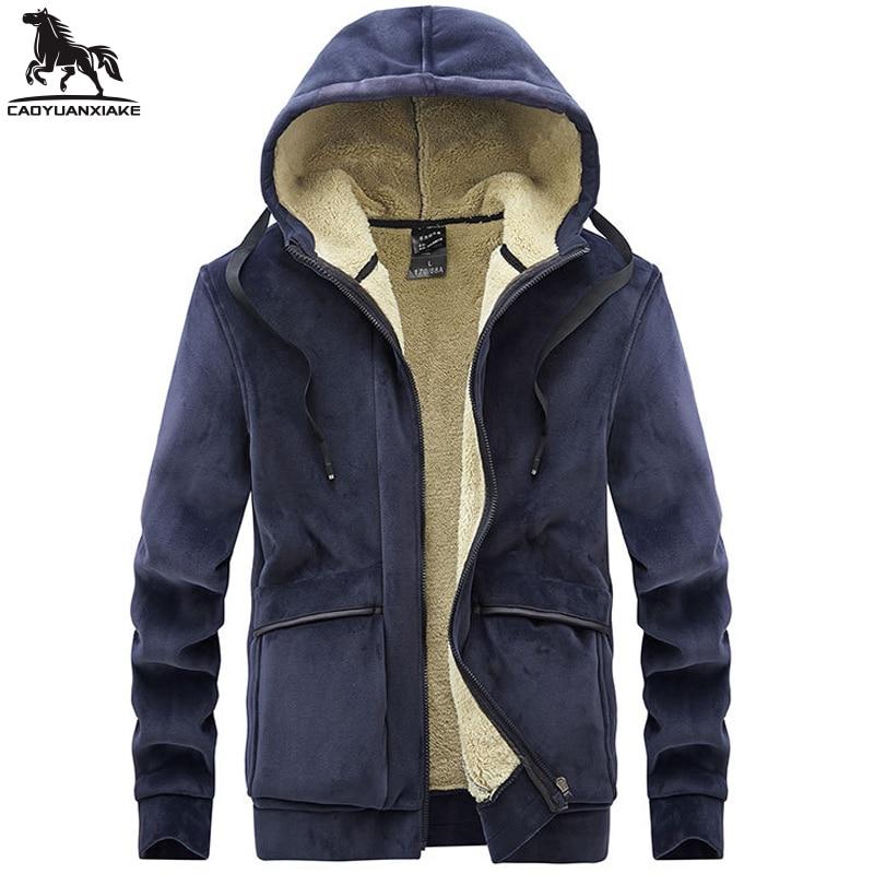 hoodies sweatshirt men l 6xl 7xl 8xl fleece hoodie solid color coat lapel sweatshirts mens casual warmth sweatshirt clothing9910 Winter parka men L-6XL 7XL 8XL Fleece silver fox Mens Jackets casual warm Cashmere coats Solid color Hooded coat Thicken jacket
