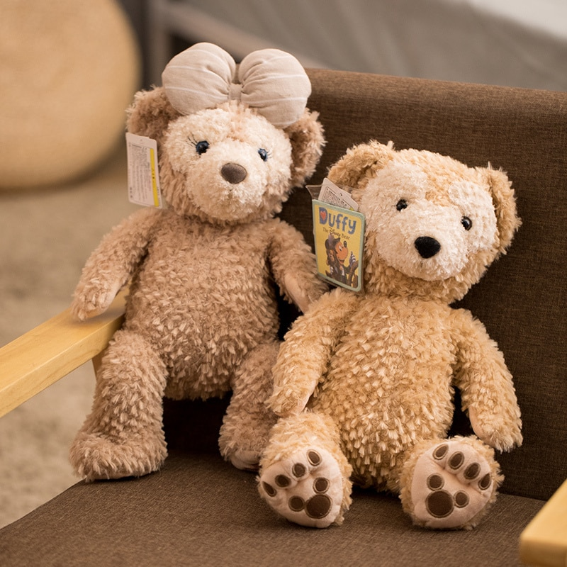 1 Uds. Duffy peluche ShellieMay juguete kawaii oso marrón relleno mochila encantador oso bolso animal bolso de hombro regalo para la novia