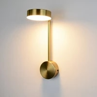 minimalist indoor lighting golden decor wall lamps 9w with switch for bedroom bedside living room aisle sconces luminaire interi