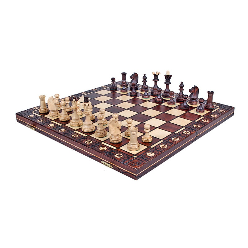 Folding Wooden Large Outdoor Chess Set Interior Storage Adult Chess Set Tournament Luxury Juegos De Mesa Chess Sets BD50CG