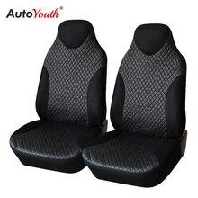 Housse de siège de voiture AUTOYOUTH   Similicuir, couvre-siège de seau à dos haut, universel, noir, 2 pièces/ensemble, décoration intérieure de voiture