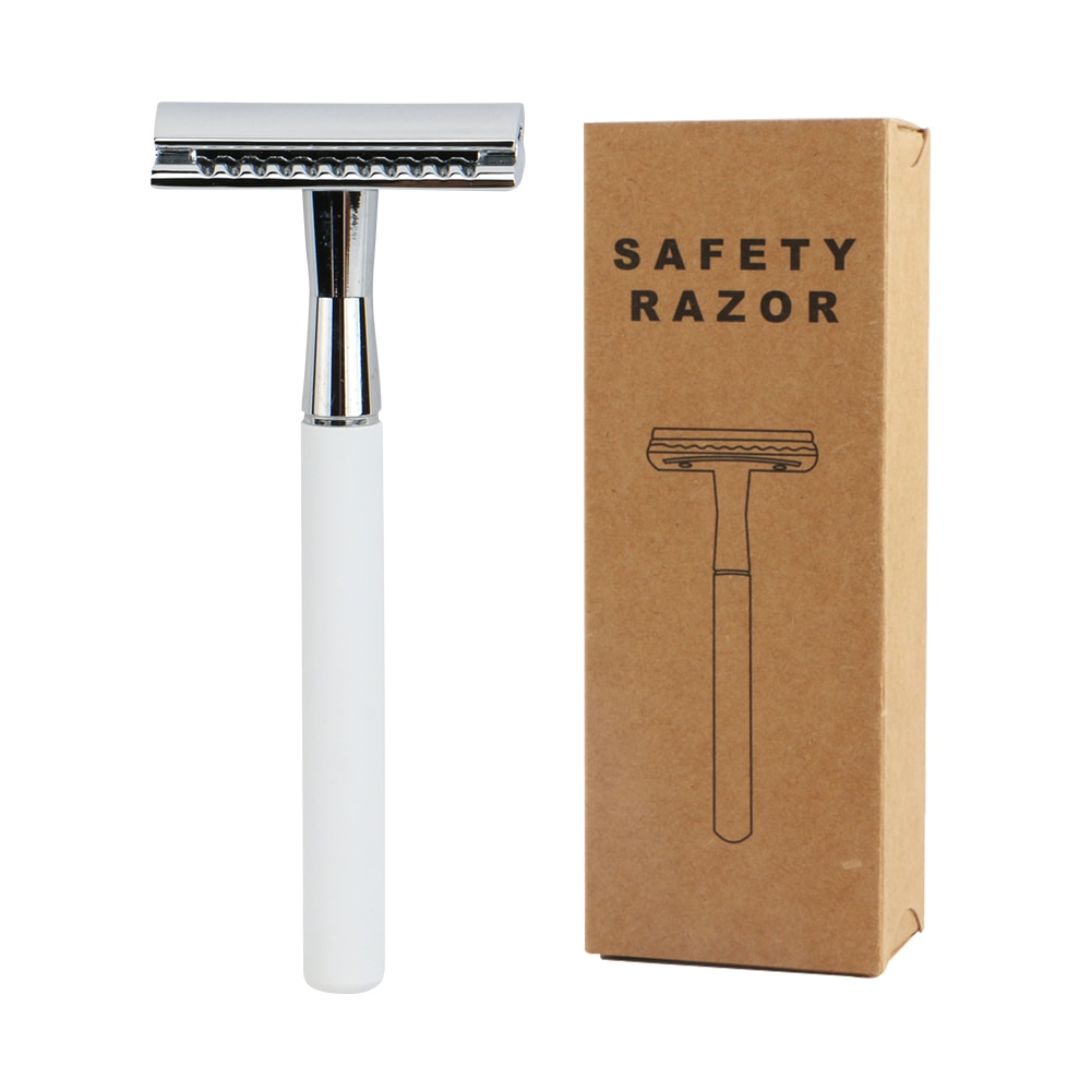 Edieu Daily Friendly Double Edge Safety Razors For Shaving Men Wet Shaving Classic Metal Manual Razor With 20 Shaving Blades