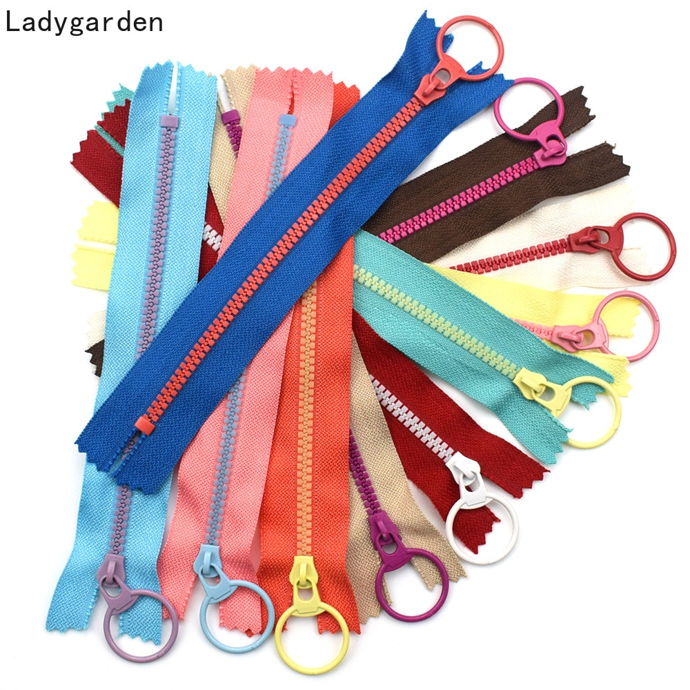 AliExpress - 5PCS 15/2030/40cm 3# Closed End Resin Zippers Pull Ring Zip Slider Head for Sewing Bags Wallet Purse Cloth Accessories Crafts