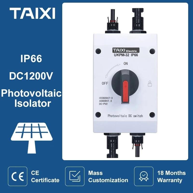 الكهروضوئية الكهربائية المعزل الطاقة الشمسية التبديل الكهروضوئية الضوئية تيار مستمر التبديل 1000 فولت 1200 فولت 32A 16A UKPM في الهواء الطلق مقاوم ل...