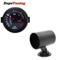 DepoTuning2'' 52mm Universal Smoke Lens Turbo Boost Bar Gauge Meter + Gauge Holder Combination