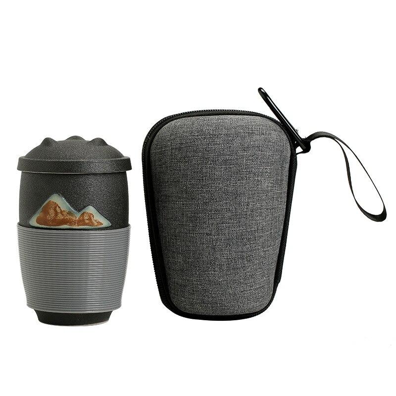 Copo de Chá Xícara de Chá Xícaras de Cerimônia de Chá Estilo Japonês Separação Início Escritório Curso Portátil Filtro Cerâmica Gaiwan Chá Presentes Finos