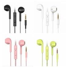Écouteurs filaires couleur bonbon pour téléphone portable, casque audio stéréo basse, design sport, étanche, pour écouter la musique, pour Samsung, iPhone, Xiaomi et Huawei