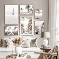 landscape wall art canvas painting ship poster palm tree print bridge posters shell sea prints nordic wall paintings home decor