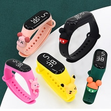 50M Waterproof Cartoon Doll Women Watch Children Watch Toy Kids Fashion Digital Sport Electronic Wat