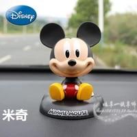 disney mickey mouse minnie mickey creative cartoon cute car shaking head ornament doll decoration supplies