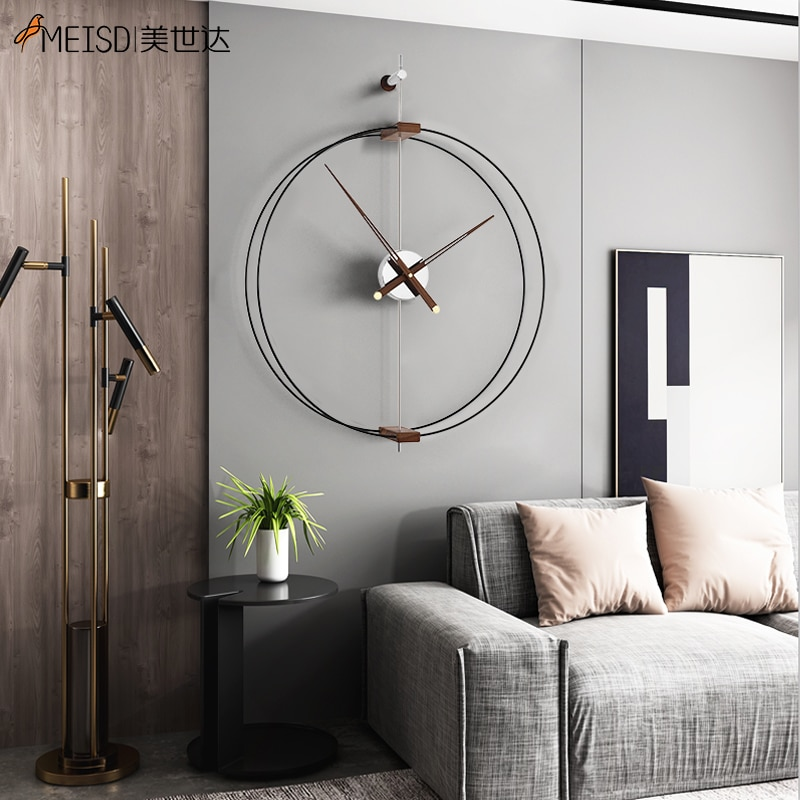 MEISD Self Adhesive Metal Circle Wall Art Large Quality Wrought Iron Interior House Decor Big Industrial Design Free Shipping