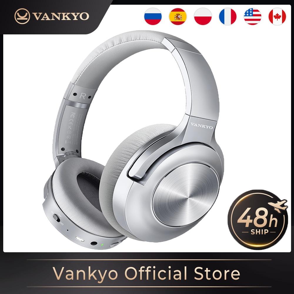 Vanq-سماعة رأس لاسلكية مع ميكروفون وإلغاء نشط للضوضاء ، وسماعة رأس استريو hi-fi مع صوت جهير عميق وبلوتوث