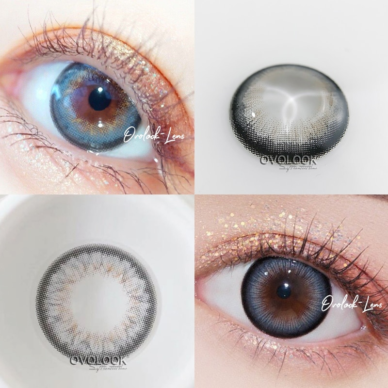 OVOLOOK-2pcs/pair Beautiful Lenses Gray Series Contact Lenses Colored Lenses for Eyes Eye Color Lens Eye Contacts (DIA:14.5mm)  - buy with discount