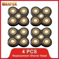 wahfox 4 pcs replacement shaver head electric shaver stainless steel razor blade 5 cutter floating head spare razor blades