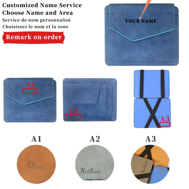 deli business name card box big capacity credit card holder memo pad Engraving Name Retro Leather Card Wallet Men Business Bank Card Holder Thin Credit Card Holder Small Card Bag Card Holder Wallet