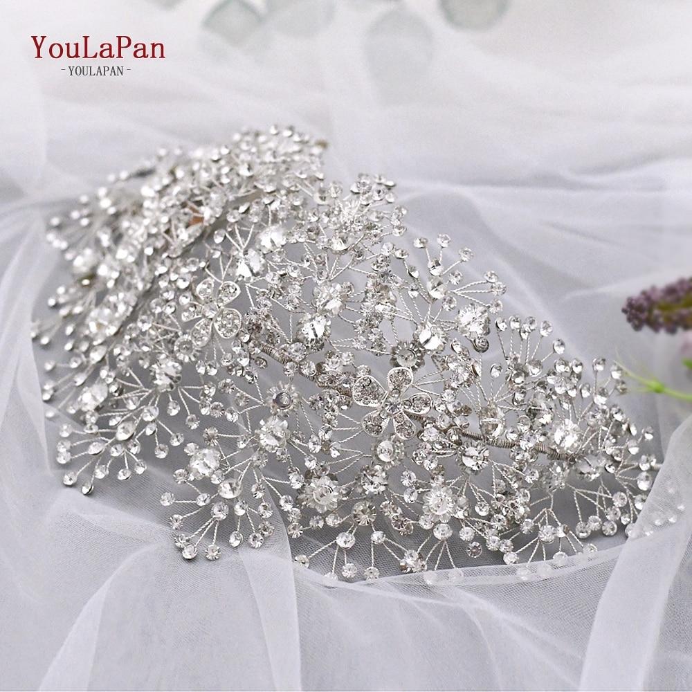Aksesorë flokësh nusë të artë magjepsës për bizhuteri kristali - Aksesorë dasme - Foto 6